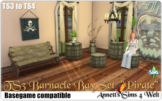 TS3 to TS4 Barnacle Bay Set Pirate at Annett's Sims 4 Welt image 2591 Sims 4 Updates