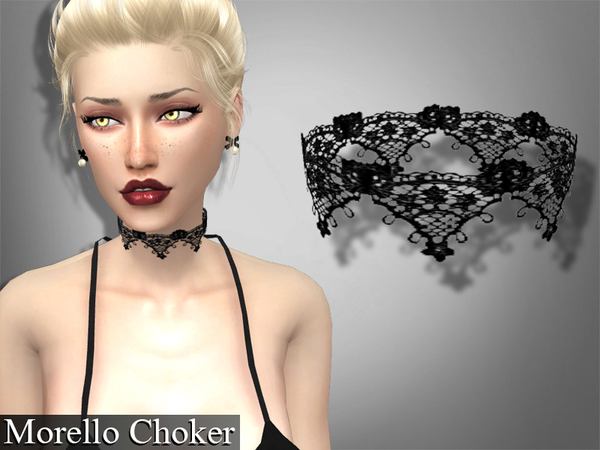 Set lace chokers by Genius666 at TSR image 2610 Sims 4 Updates
