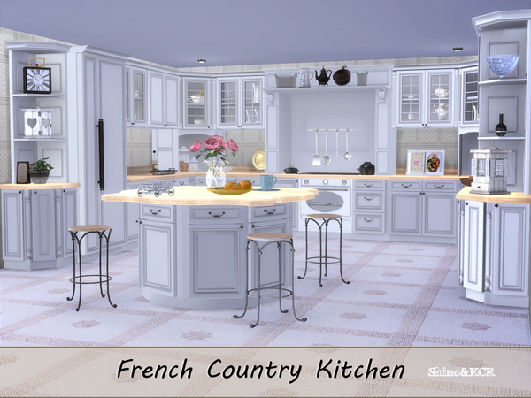 French Country Kitchen by ShinoKCR at TSR image 2613 Sims 4 Updates