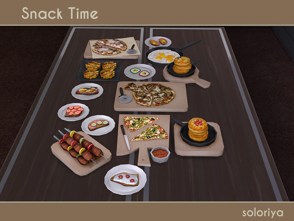 Snack Time clutter by soloriya at TSR image 2616 Sims 4 Updates