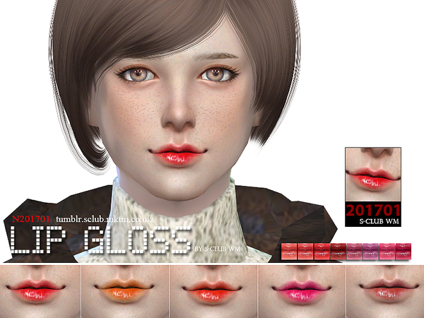 Sims 4 Lipstick 201701 by S Club WM at TSR
