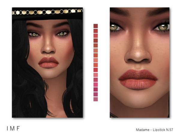 Sims 4 IMF Madame Lipstick N.57 by IzzieMcFire at TSR