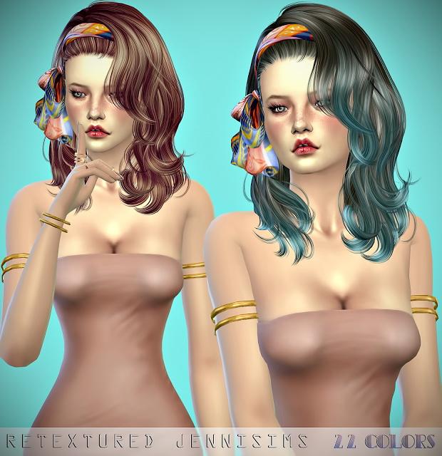 Newsea LongLoveLetter Hair retexture at Jenni Sims image 2632 Sims 4 Updates