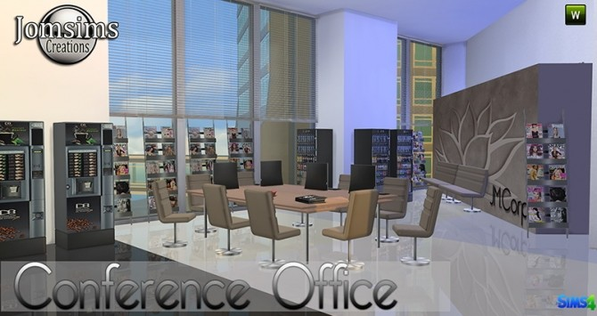 Sims 4 Conference Office at Jomsims Creations