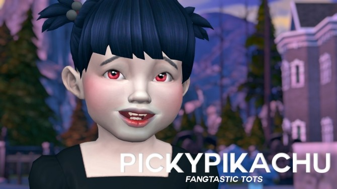Fantastic Tots Vampire Fangs for Toddlers at Pickypikachu image 2664 670x377 Sims 4 Updates