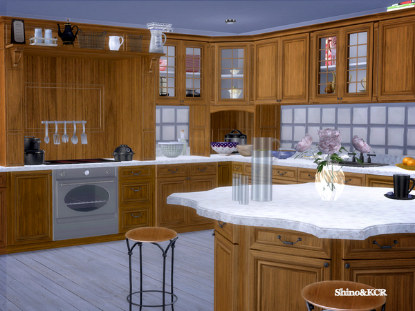 French Country Kitchen by ShinoKCR at TSR image 2710 Sims 4 Updates