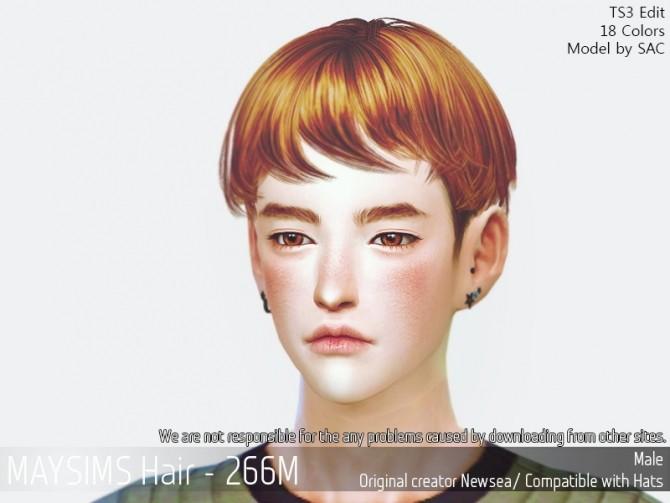 Sims 4 Hair 266M (Newsea) at May Sims