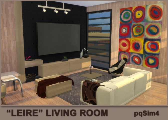 Leire living room by Mary Jiménez at pqSims4 image 2741 670x482 Sims 4 Updates