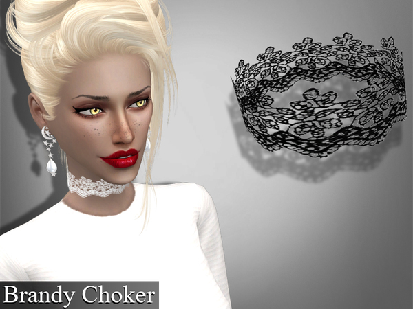 Sims 4 Set lace chokers by Genius666 at TSR