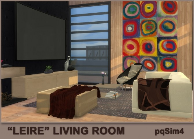 Sims 4 Leire living room by Mary Jiménez at pqSims4