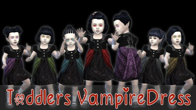 Toddlers Vampire Dress At Seger Sims Sims 4 Updates