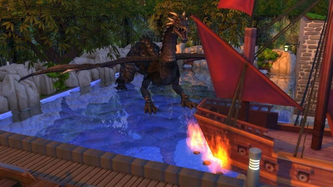The Dragons Lair Ride by Snowhaze at Mod The Sims image 278 670x377 Sims 4 Updates