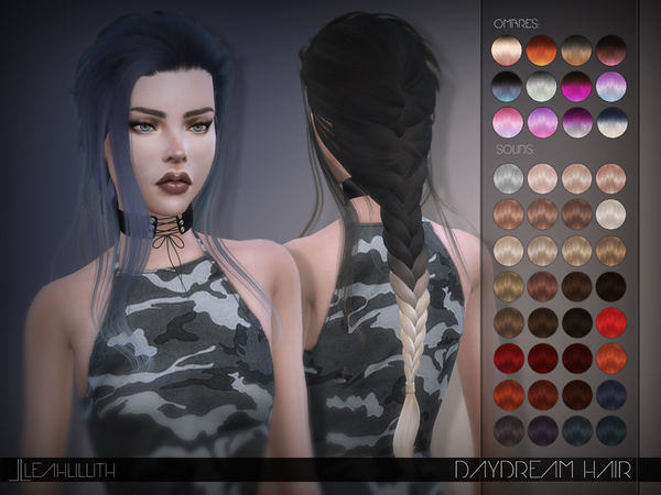 Daydream Hair by Leah Lillith at TSR image 279 Sims 4 Updates