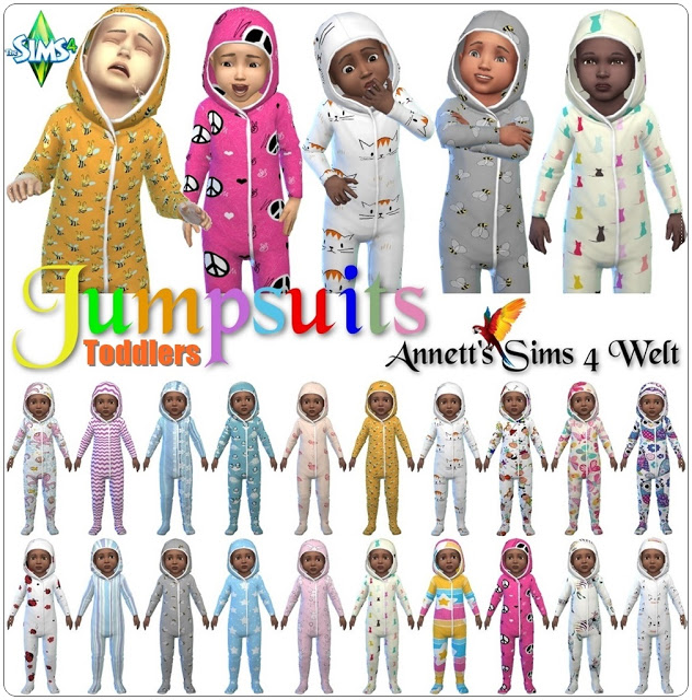 Toddler Jumpsuits at Annett's Sims 4 Welt image 2801 Sims 4 Updates