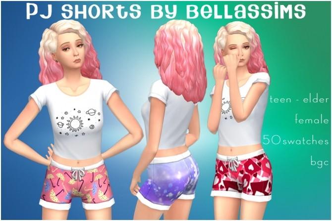 Sims 4 PJ shorts at Bellassims
