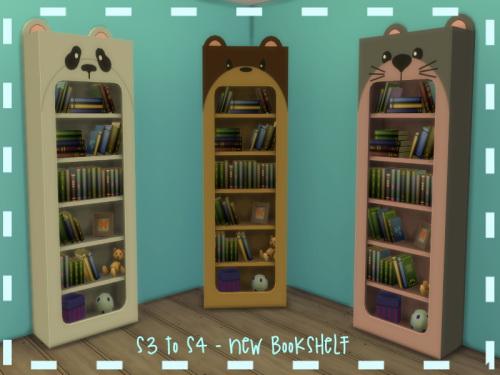 Sims 4 S3 to S4 Animal Bookshelf at ChiLLis Sims
