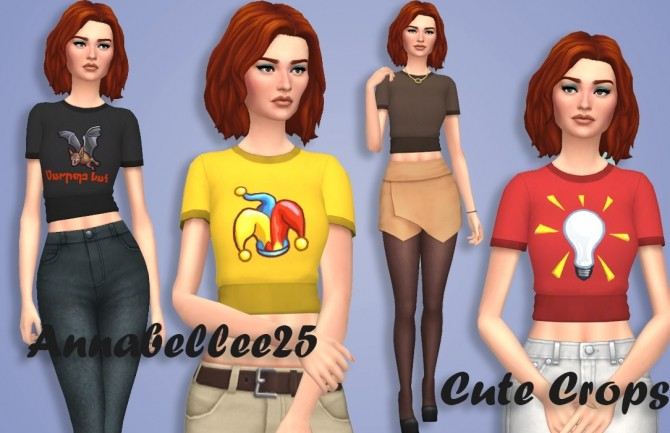 Sims 4 Cute Crop Top by Annabellee25 at SimsWorkshop