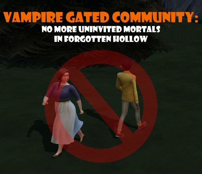 Sims 4 Vampire Gated Community by TwistedMexi at Mod The Sims