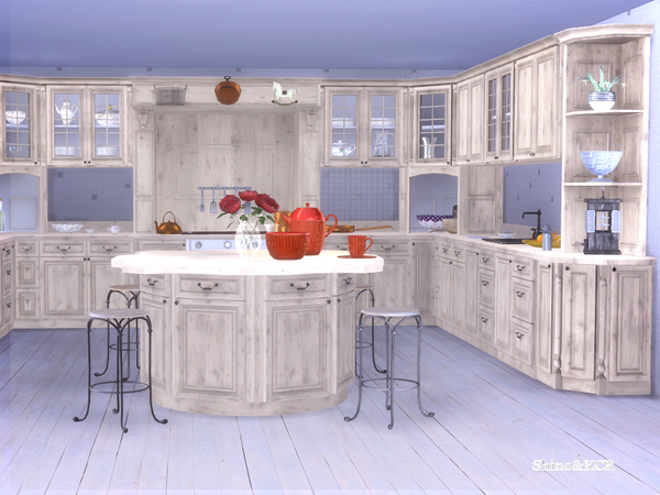 French Country Kitchen by ShinoKCR at TSR image 284 Sims 4 Updates