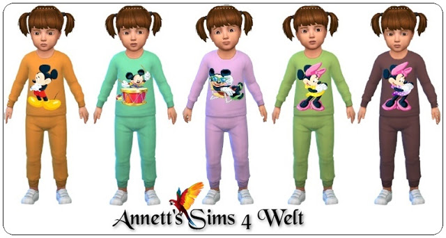Sims 4 Toddlers Sweater & Pants Micky at Annett's Sims 4 Welt