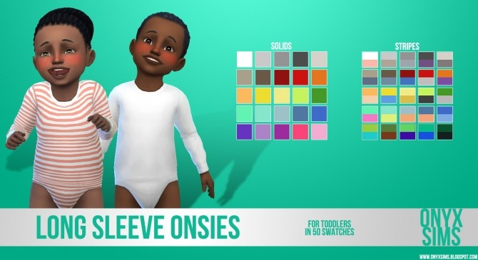 Sims 4 Long Sleeve Onesie for Toddlers at Onyx Sims