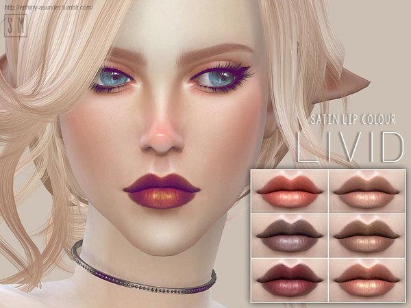 Sims 4 Livid Satin Lip Colour by Screaming Mustard at TSR