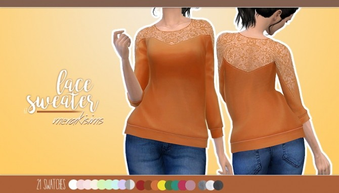 Lace sweater at Merakisims image 2931 670x383 Sims 4 Updates