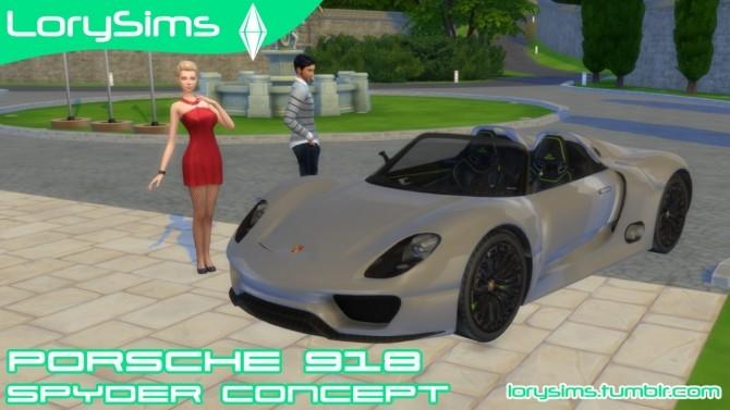 Porsche 918 Spyder Concept at LorySims image 3011 670x377 Sims 4 Updates