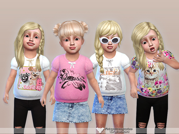 Sweet Fun Toddler Casual Collection by Pinkzombiecupcakes at TSR image 3015 Sims 4 Updates