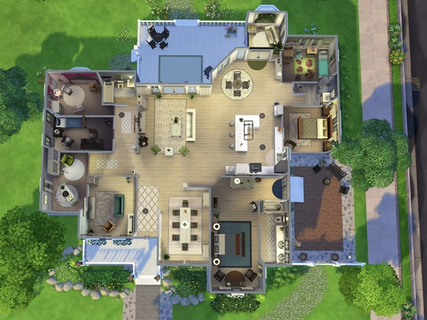 Sims 4 Kamdyn Family House by smubuh at TSR
