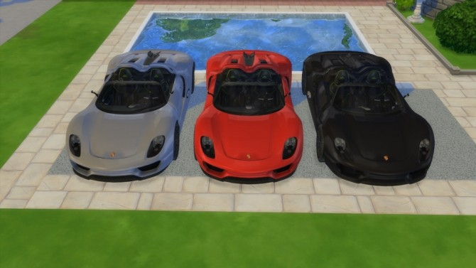 Porsche 918 Spyder Concept at LorySims image 307 670x377 Sims 4 Updates
