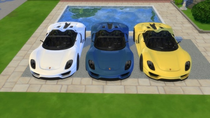 Porsche 918 Spyder Concept at LorySims image 308 670x377 Sims 4 Updates