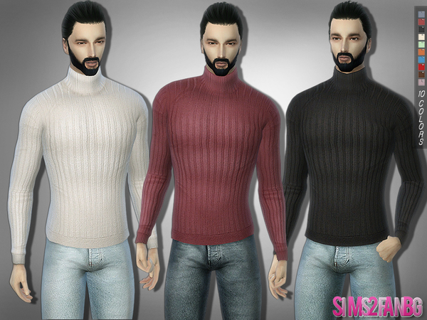 285 Chunky Ribbed Knitwear by sims2fanbg at TSR image 310 Sims 4 Updates
