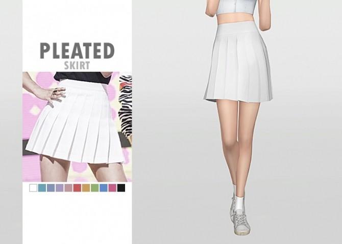 Sims 4 Pleated Skirt at Waekey