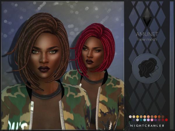 Sims 4 Amunet hair by Nightcrawler Sims at TSR