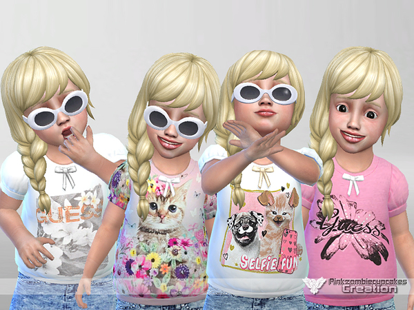 Sweet Fun Toddler Casual Collection by Pinkzombiecupcakes at TSR image 3116 Sims 4 Updates