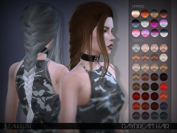 Sims 4 Daydream Hair by Leah Lillith at TSR
