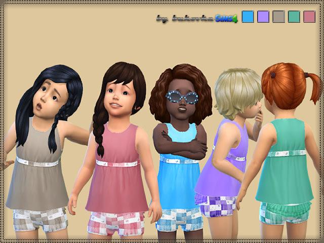 Sims 4 Short Dress at Bukovka