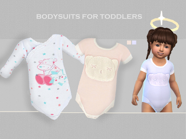 Sims 4 Bodysuits for toddlers by Puresim at TSR