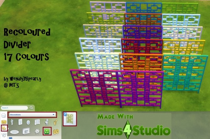 Recoloured Divider in 17 Colours by wendy35pearly at Mod The Sims image 3324 670x445 Sims 4 Updates