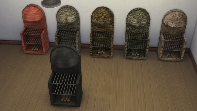 Medieval stove grill fireplace with animated fire by necrodog at Mod The Sims image 333 670x377 Sims 4 Updates