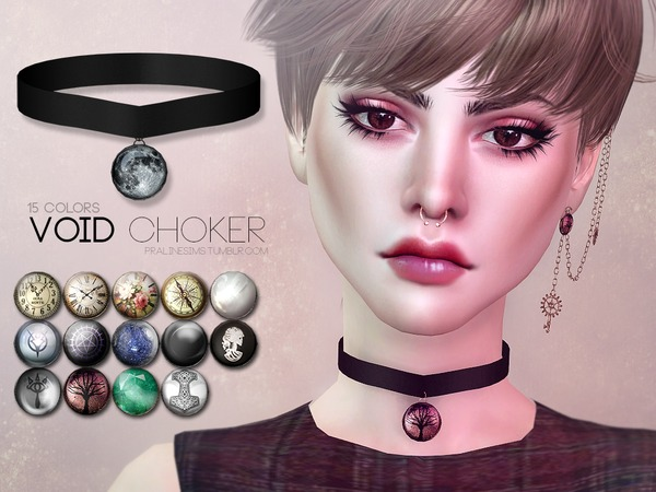 Sims 4 Void Choker by Pralinesims at TSR