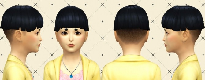 Sims 4 Little Bowl Hair at Simduction