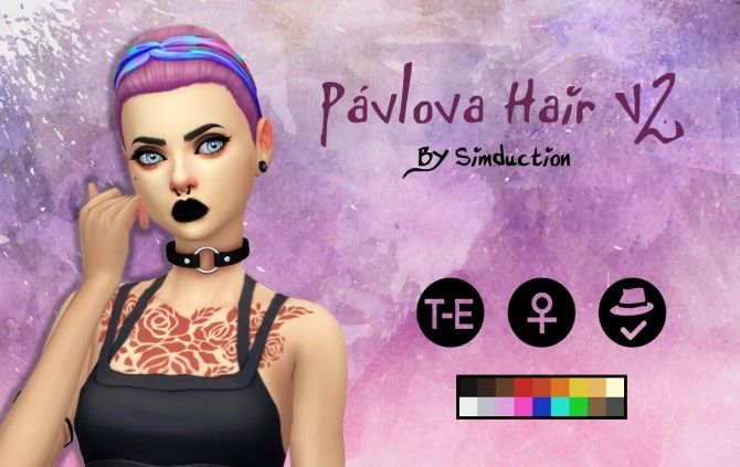 Pávlova Hair V2 at Simduction image 348 670x423 Sims 4 Updates