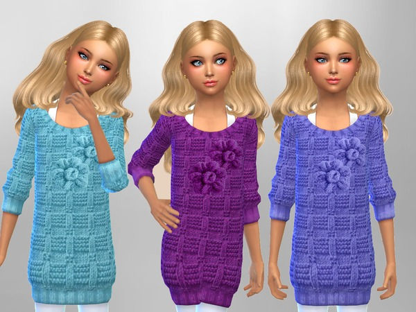 Sims 4 Girls Knit Jumpers by SweetDreamsZzzzz at TSR