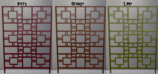 Recoloured Divider in 17 Colours by wendy35pearly at Mod The Sims image 3520 670x317 Sims 4 Updates