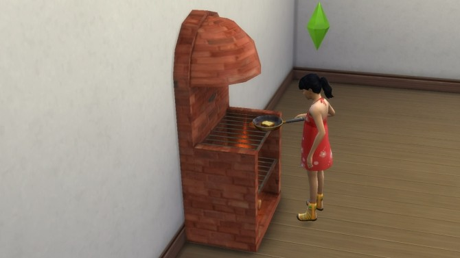 Sims 4 Medieval stove grill fireplace with animated fire by necrodog at Mod The Sims