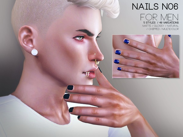 Nails For Men N06 by Pralinesims at TSR image 357 Sims 4 Updates