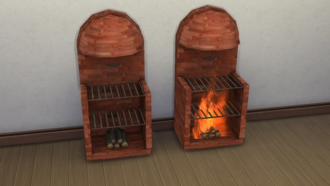 Medieval stove grill fireplace with animated fire by necrodog at Mod The Sims image 363 670x377 Sims 4 Updates