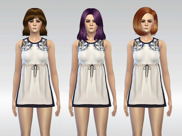 Sims 4 The Pristine Dress by McLayneSims at TSR